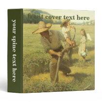 Vintage Farmers, Back to the Farm by NC Wyeth 3 Ring Binder