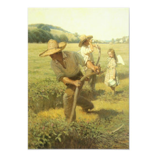 Vintage Farmers, Back to the Farm by NC Wyeth 5x7 Paper Invitation Card