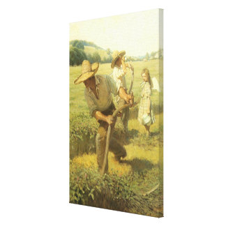 Vintage Farmers, Back to the Farm by NC Wyeth Canvas Print