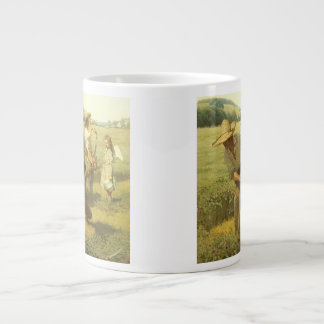 Vintage Farmers, Back to the Farm by NC Wyeth Large Coffee Mug