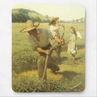 Vintage Farmers, Back to the Farm by NC Wyeth Mouse Pad
