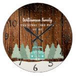 Vintage Farmhouse Christmas  – Family Name Clock
