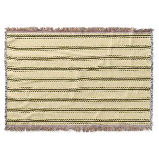 Vintage-Farmhouse-Cream-Black-Mod-Ticking-Blanket