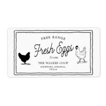 vintage farmhouse egg carton Label