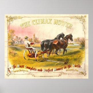 Vintage Farming Ad 1869 Poster