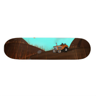 Vintage Farming Tractor Skateboard Deck