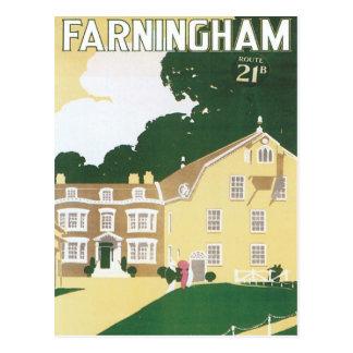 Vintage Farningham Inglaterra Tarjetas Postales