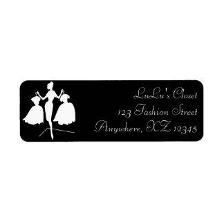 Vintage Fashiion Silhouette Label