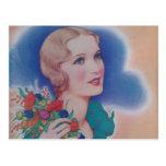 Vintage Fashion 1931 Postcard
