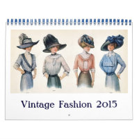 Vintage Fashion 2015 Calendar Calendar
