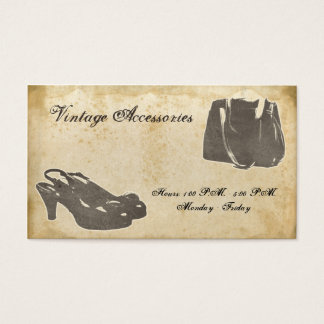 Vintage Fashion Accessories Business Card