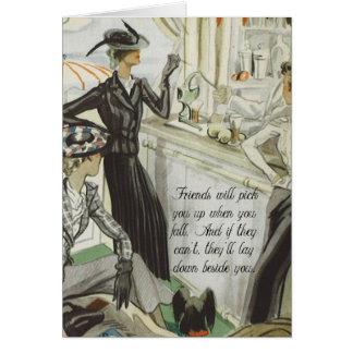 Vintage Fashion Advert:  Friendship Card