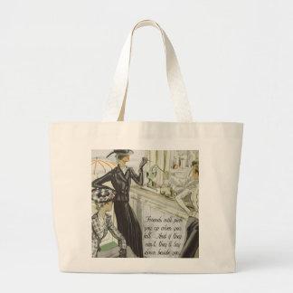 Vintage Fashion Advert:  Friendship Jumbo Tote Bag