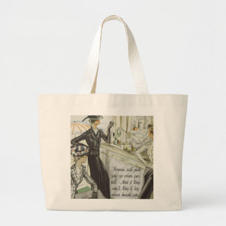 Vintage Fashion Advert:  Friendship Large Tote Bag