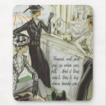 Vintage Fashion Advert:  Friendship Mouse Pad