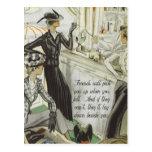 Vintage Fashion Advert:  Friendship Postcard