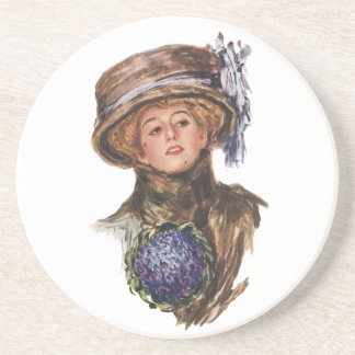 Vintage Fashion Advertising Coaster