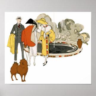 Vintage Fashion Advertising Poster or Print