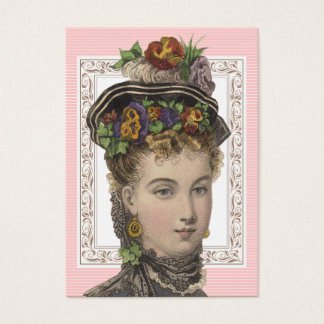 Vintage Fashion Beautiful Victorian Lady Business Card