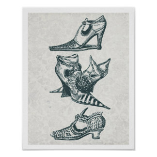 Vintage Fashion Boots Poster
