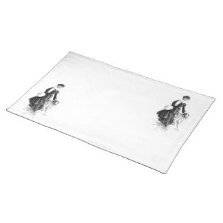 Vintage Fashion Borzoi Art Placemat