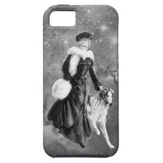 Vintage Fashion Borzoi dog art iPhone 5 Covers