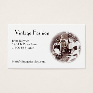 Vintage Fashion ?  Business Card