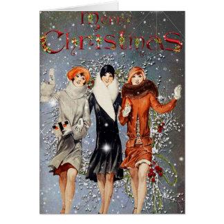 Vintage Fashion Christmas Card
