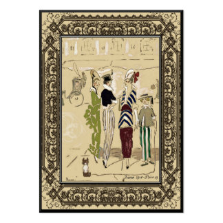 Vintage Fashion Design Small Business Business Cards
