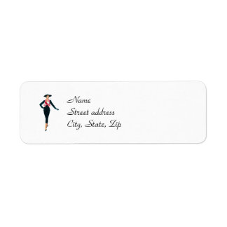 Vintage Fashion Diva Return Address Labels