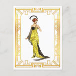 Vintage Fashion Early 1900s Hollywood Gown Postcard