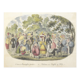 Vintage Fashion Garden in London England Postcard