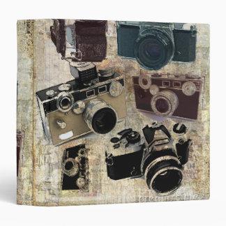 Vintage fashion Grunge Retro Camera 3 Ring Binder