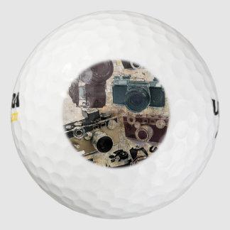 Vintage  fashion Grunge Retro Camera Golf Balls