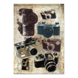 Vintage  fashion Grunge Retro Camera 5x7 Paper Invitation Card