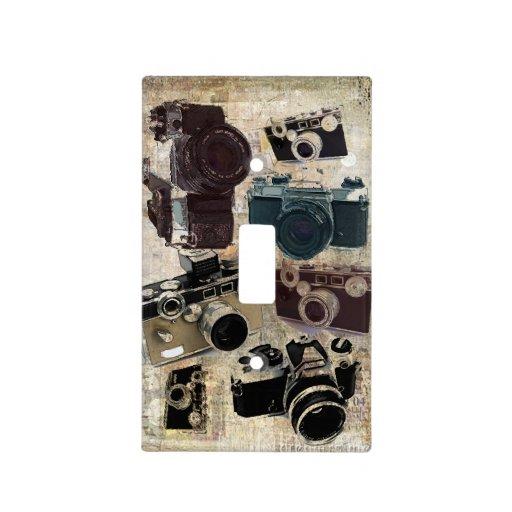 Vintage fashion Grunge Retro Camera Light Switch Cover  Zazzle
