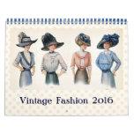 Vintage Fashion Illustrations 2016 Calendar