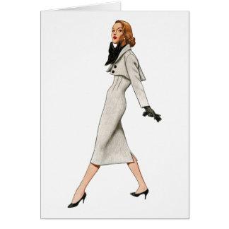 Vintage Fashion Image Blank Card