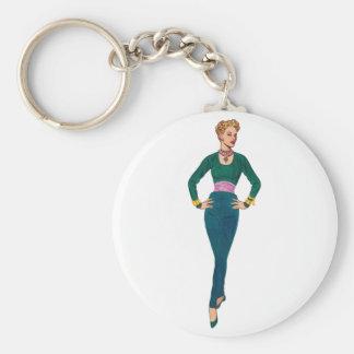 Vintage Fashion Image Keychain