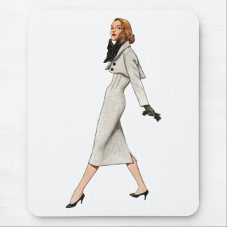 Vintage Fashion Image Mousepad