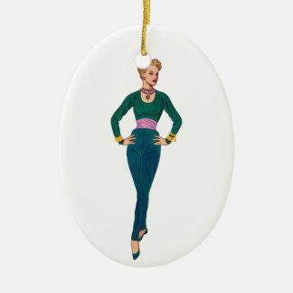 Vintage Fashion Image Ornament