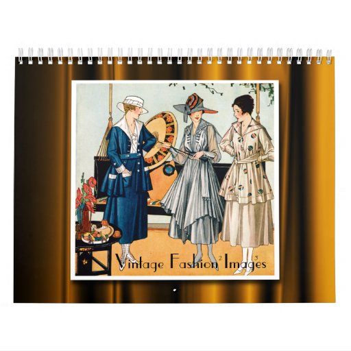 Vintage Fashion Images 2013 Calendar