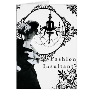 Vintage Fashion Insultant-notecard Card