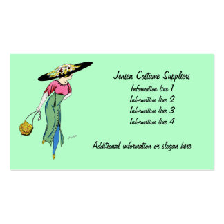 Vintage Fashion Lady Business Card