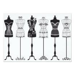 Vintage fashion mannequins card