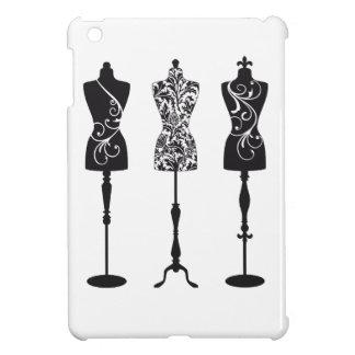 Vintage fashion mannequins silhouettes iPad mini cover