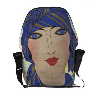 Vintage Fashion Model Messenger Bag