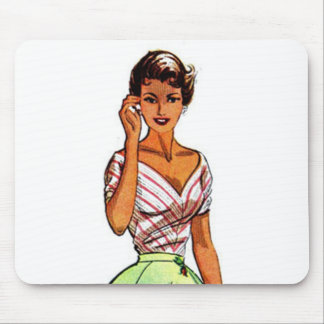 Vintage Fashion Patterns Mousepads
