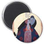 Vintage fashion prints refrigerator magnet