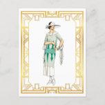 Vintage Fashion Roaring 20s Gatsby Era Dress Postcard